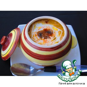"""Рецепт Грибной крем-суп """"Капучино"""""""