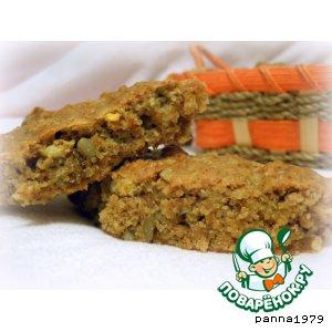 Рецепт Овсяное печенье с орехами, семечками и хурмой