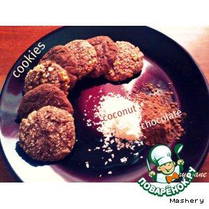 Шоколадно-кокосовое печенье домашний рецепт с фотографиями пошагово как готовить