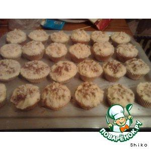 Как готовить Ванильные кексы с кремом простой рецепт с фото пошагово