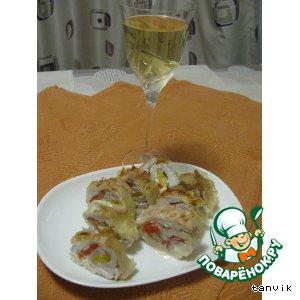 Рецепт Рулеты из индейки со сладким перцем