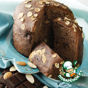 Шоколадный панеттон с миндалем простой рецепт с фото готовим