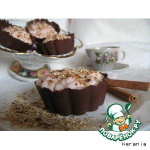 Рецепт Хрустящие шоколадные корзиночки