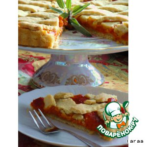 Рецепт Пирог с перцами и шалфеем