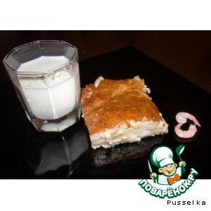 Рецепт Быстрый пирог-суфле с картофелем и брынзой