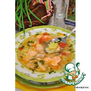 Рецепт Рыбный суп из сeмги с овощами и пшеном