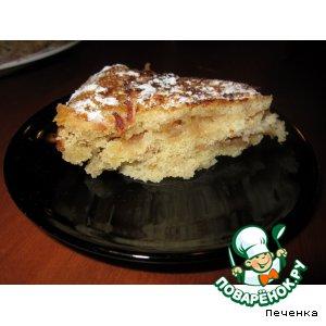 Рецепт Насыпной пирог с яблоками в мультиварке