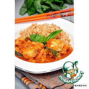 Рецепт Рыбное филе с тайской пастой карри в томатном соусе