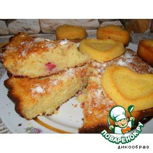 Рецепт Кекс с малиной