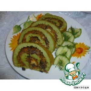 Готовим Рулет с брокколи и грибами домашний рецепт приготовления с фото пошагово