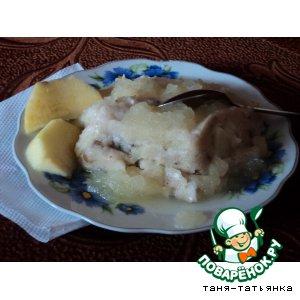 Рецепт Грушевый пудинг с яблочной подливкой