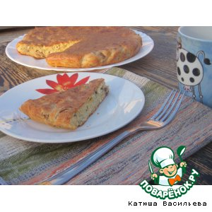 Рецепт Сырный пирог с шампиньонами