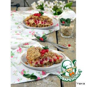 Рецепт Пирог с творогом и красной смородиной