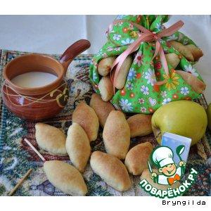 Рецепт «Сяду на пенек, съем пирожок!»  мини пирожки с лососем в соевом соусе и зеленым яблочком