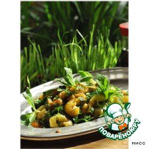 Рецепт Салат из баклажанов с соевым соусом и мятой