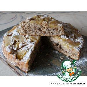 Рецепт Яблочный татен с орехами и овсяными хлопьями
