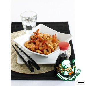 Как приготовить Креветки с соевым соусом и перцем простой рецепт с фото пошагово