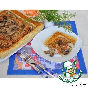 Рецепт Тарт с грибами