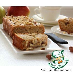 Рецепт Яблочный кекс в медовой глазури