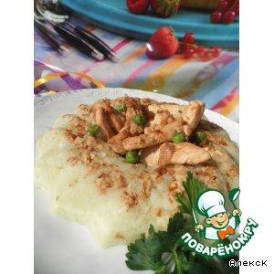 Рецепт Куриные полоски на картофельном кольце
