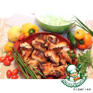 Рецепт Курица глазированная в меду и горчице, под соусом Yakitori