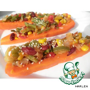 Рецепт Морковь, фаршированная овощами