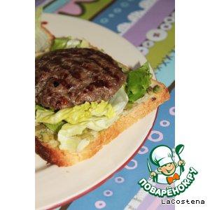 Рецепт Бургер с голубым сыром