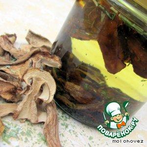 Рецепт Ароматизированное масло на сухих белых грибах
