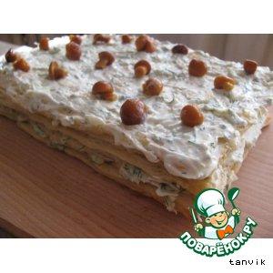 """Рецепт """"Наполеон"""" с сырным кремом"""