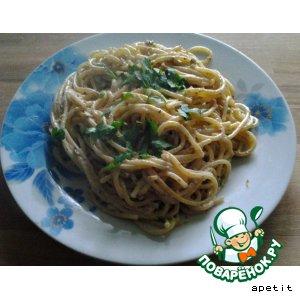 Спагетти с грецкими орехами рецепт с фото готовим