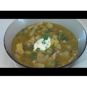 Рецепт Суп картофельный со свежими грибами