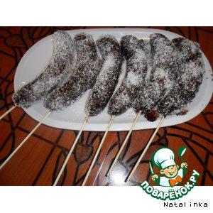Рецепт Бананы на палочках в шоколаде