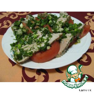 Рецепт Индейка с зеленым луком по-средиземноморски