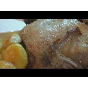 Рецепт Жареная утка с яблоками