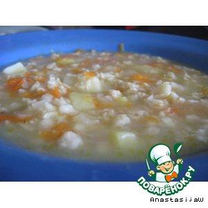 Рецепт Диетический овсяный суп