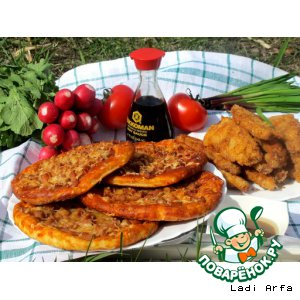 Рецепт Воскресный пикник у озера , с творожными мини пиццами
