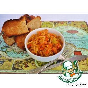 Рецепт Капуста, тушенная с томатным соком