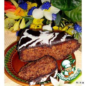 Рецепт Шоколадно-творожная запеканка с хлопьями зерновых