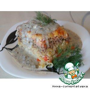 Рецепт Лапша с мясом и помидорами