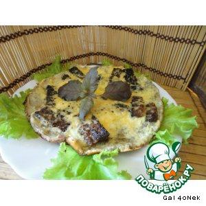 """Рецепт Яичница """"Смак"""" с ржаными гренками и сыром"""