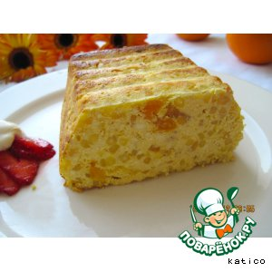Рецепт Апельсиновая запеканка из творога и саго
