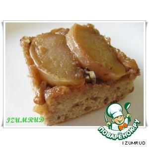 Рецепт Перевeрнутый кекс с яблоками и грецкими орехами
