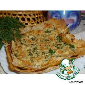 Рецепт Лавашный пирог с черемшой