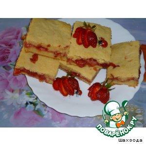 Рецепт Манник с клубникой на кефире