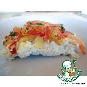 Рецепт Суфле из щуки под овощами