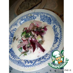 Рецепт Холодный борщ с маринованной свеклой