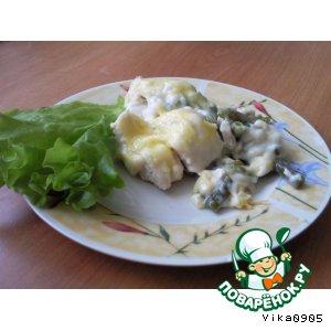 Рецепт Куриное филе и стручковая фасоль под соусом