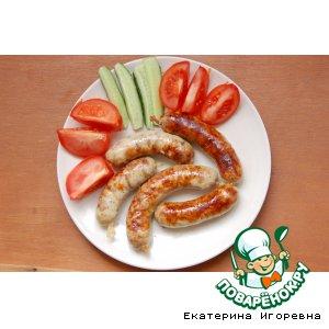 Рецепт Домашние колбаски куриные