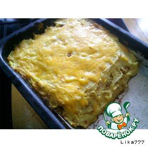 Рецепт: Картофельная запеканка с консервированной сайрой
