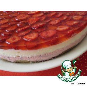 Рецепт Клубнично-лимонный торт
